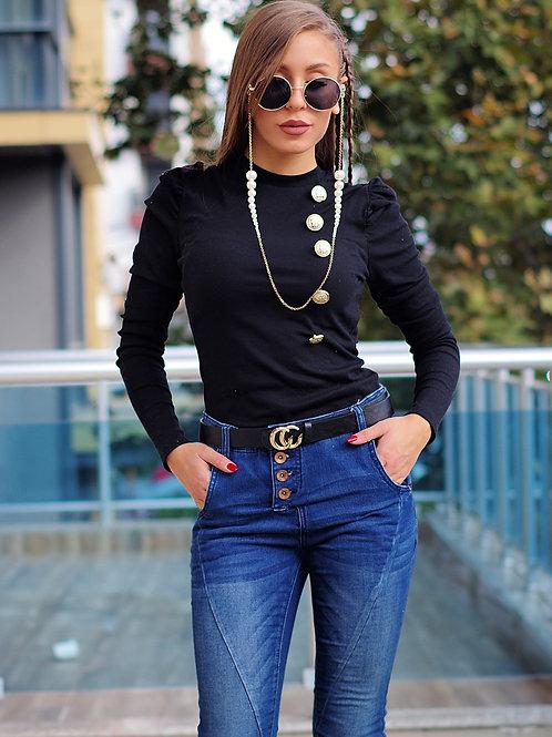 Блуза - Puff sleeve blouse