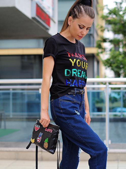 *Тениска- The letters