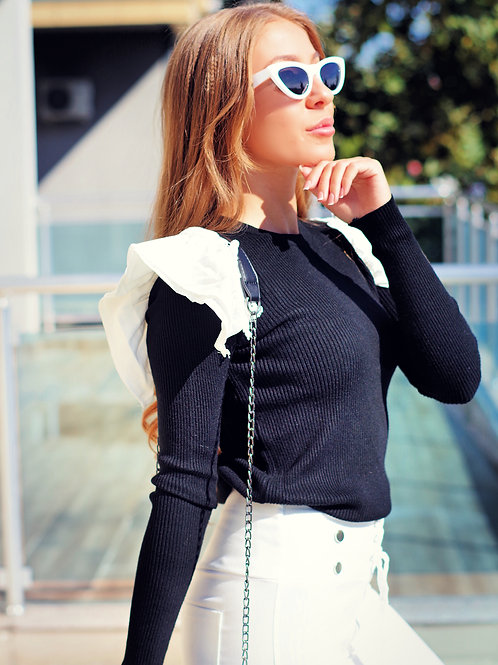 Блуза - Layered shoulder top