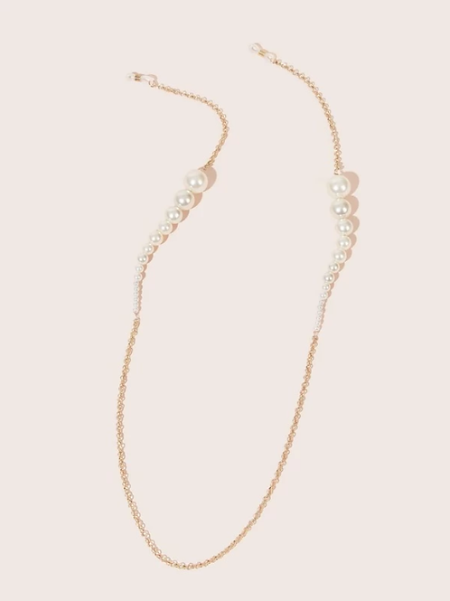 Връзка за очила - White pearls