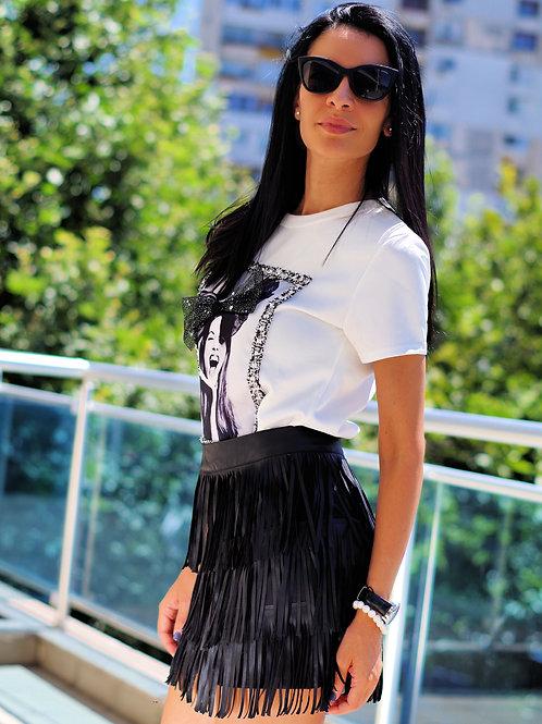 Пола- Black fringe skirt