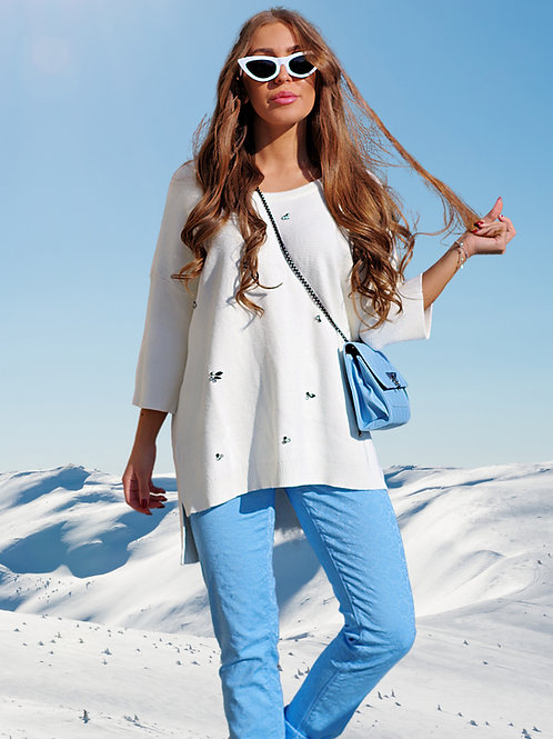 Пуловер - White snow