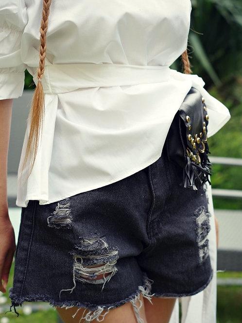 Панталон - Black denim
