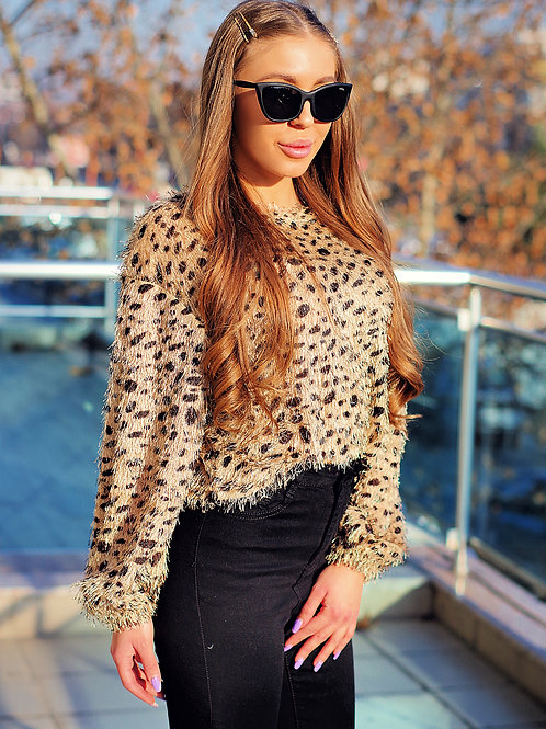 Пуловер- Leopard sweater