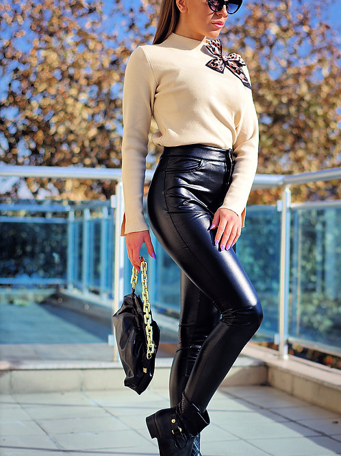 Панталон - PU Leather Pants