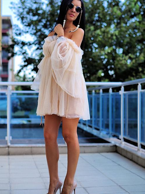 Рокля - Angel in beige
