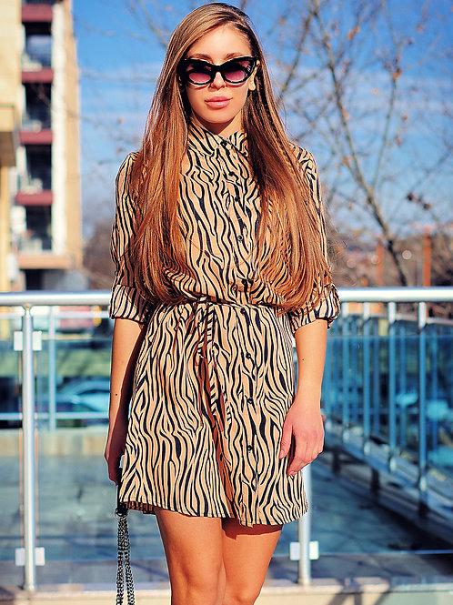 Рокля - Beige tunic dress