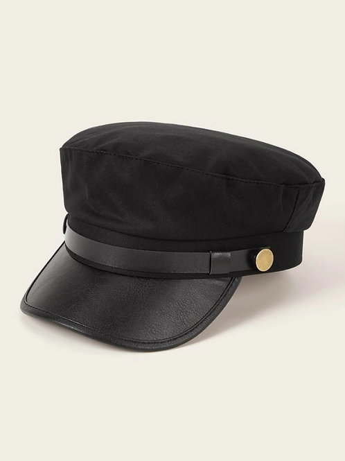 Шапка- Black belted hat