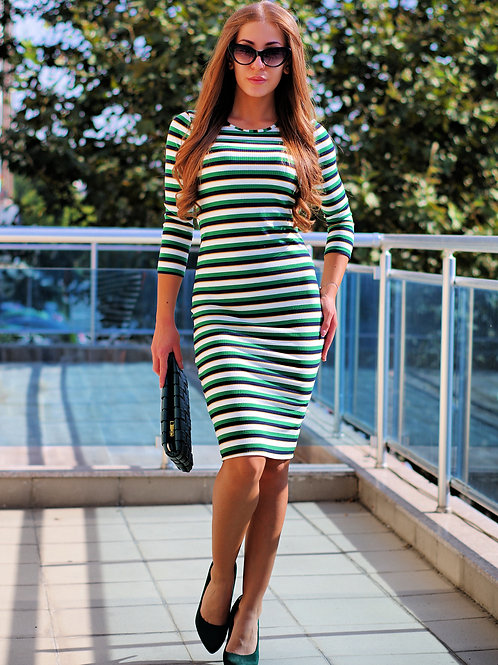 Рокля - Striped dress