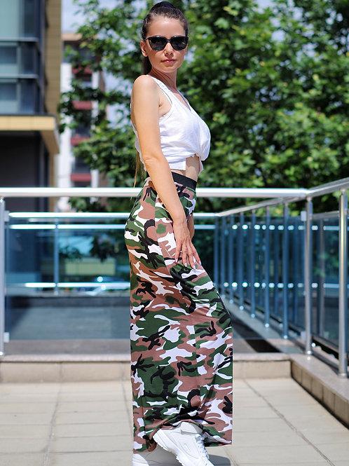 Пола - Military long skirt