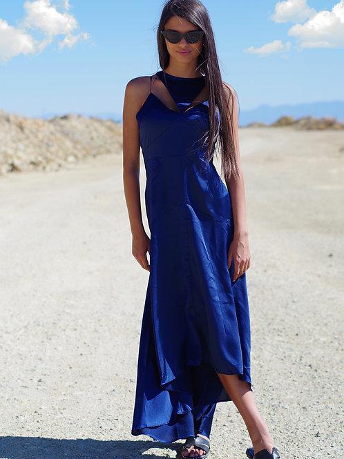 Рокля- Elegance in blue