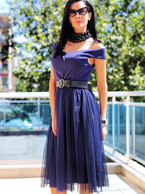 Рокля - Blue style