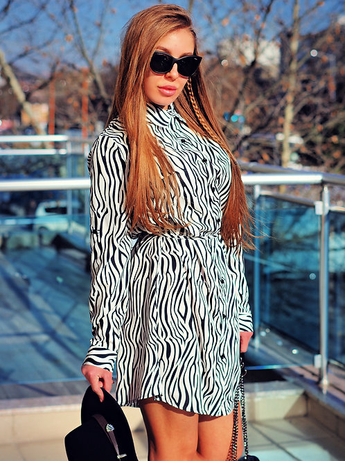 Рокля - Zebra tunic dress