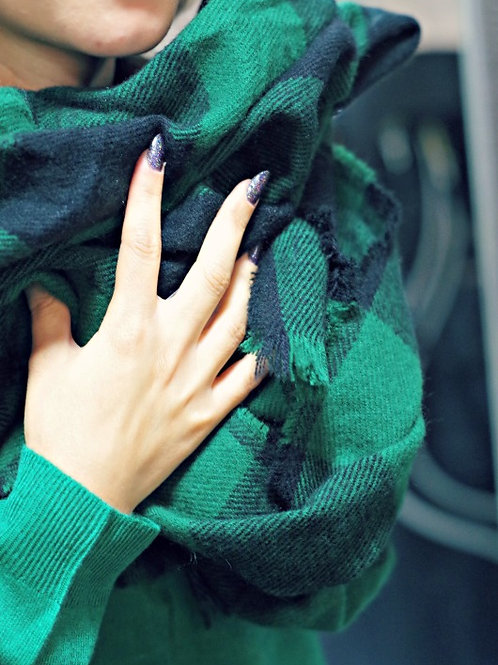 Шал - Green scarf