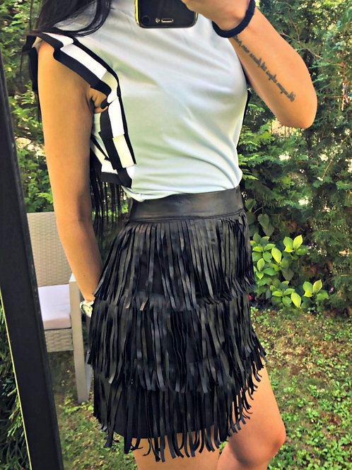 *Пола- Black fringe skirt