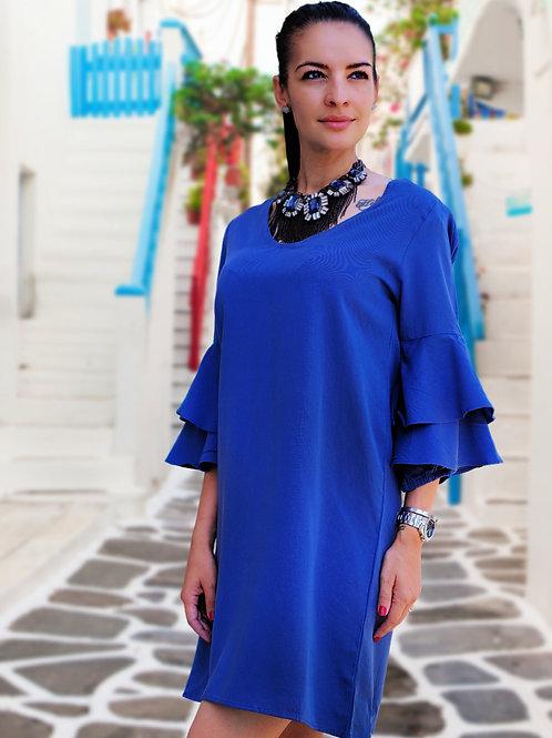 Рокля- Royal blue
