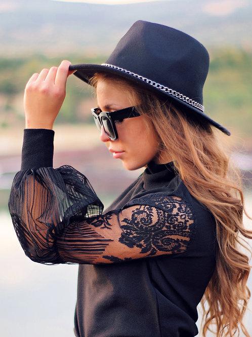 Блуза- Black lace
