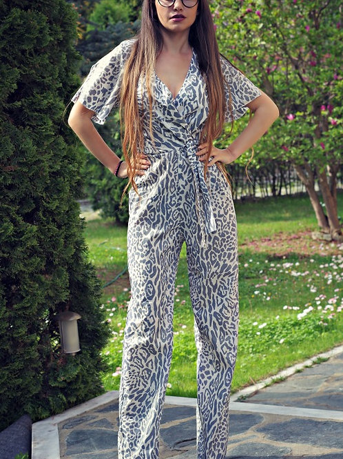 Гащеризон - Animal print jumpsuit