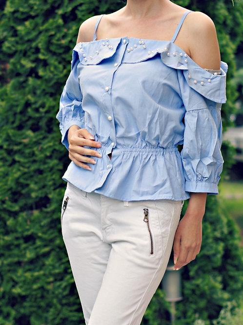 *Блуза - Blue pearl top