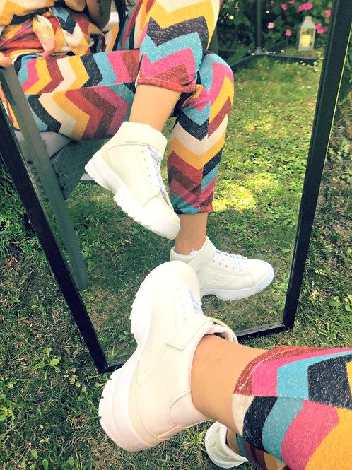 Обувки - White sporty