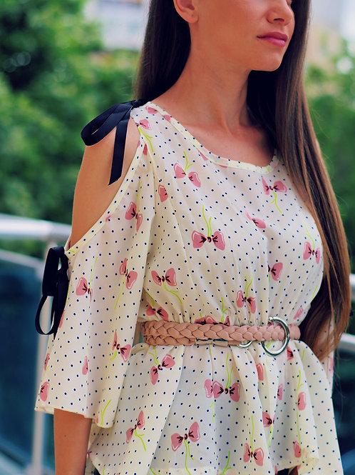 Риза -  Pink ribbons