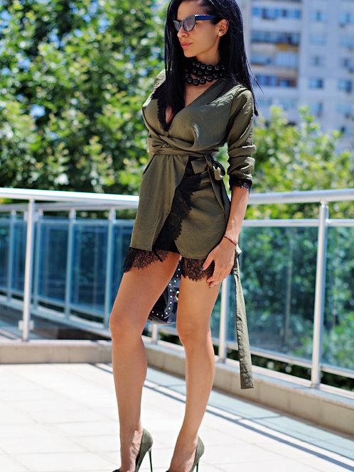 Рокля - Olive green dress