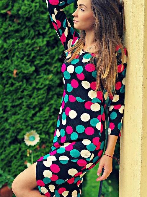Рокля- Colorful dots