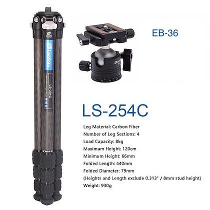 Leofoto LS-254C  kit con testa