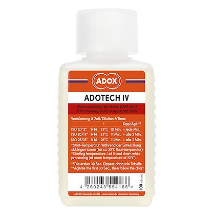 ADOX ADOTECH IV sviluppo specifico per la pellicola CMS 20 100ml