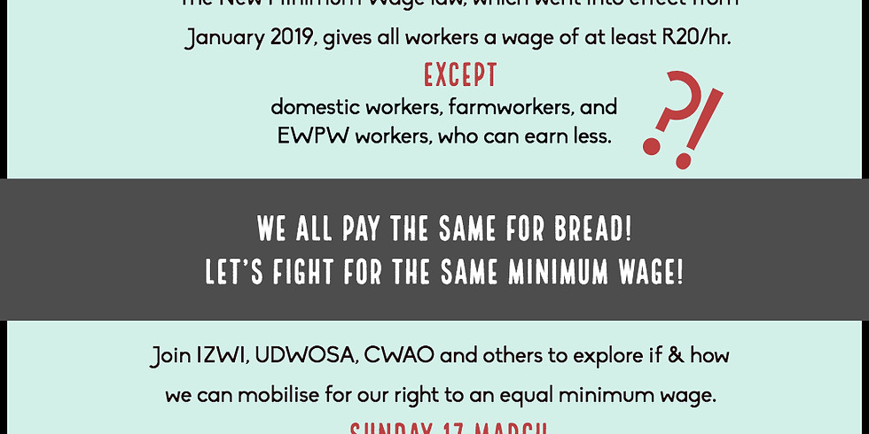 One Wage Campaign March!