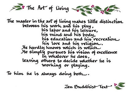 The Art of Living.. Zen Buddhist Text
