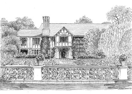 Pen & Ink House Drawing