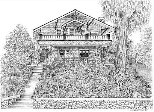 Pen & Ink Drawing - Lynn Van Dam Cooper