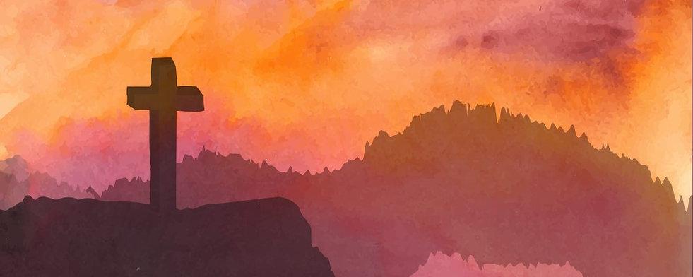 Cross on Mountain Illustration