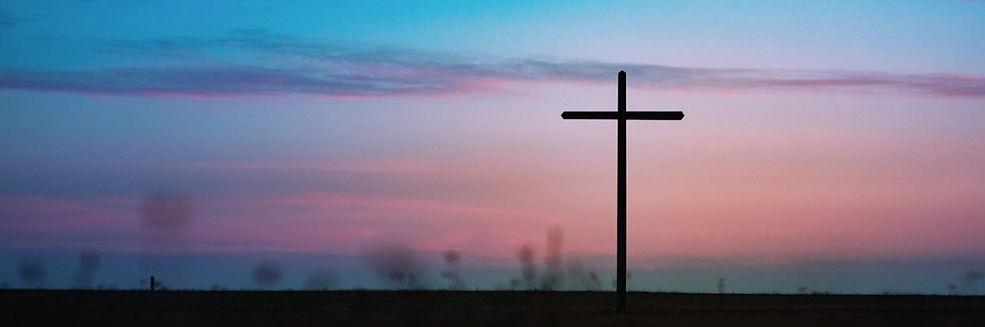 A single Cross in a field