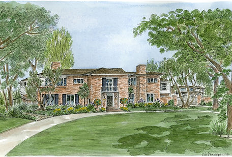 Watercolor House Portrait – Lynn Van Dam Cooper