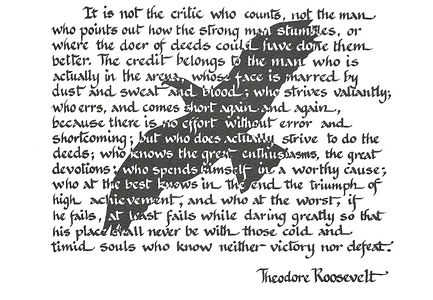 Theodore Roosevelt Quote On Leadership