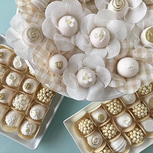 Aula de doces fondados e bombons