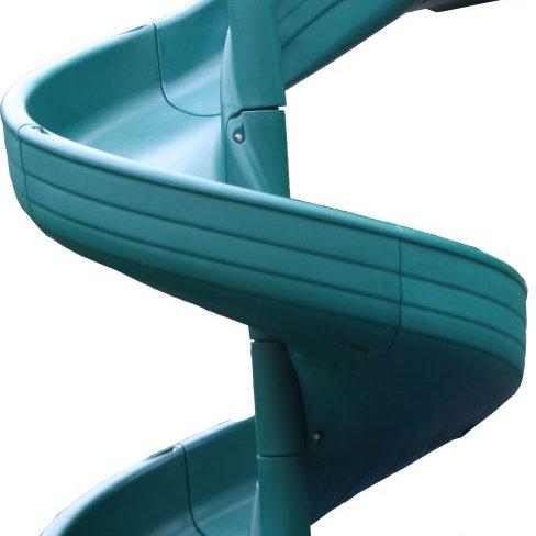 7′ Open Spiral Slide Green
