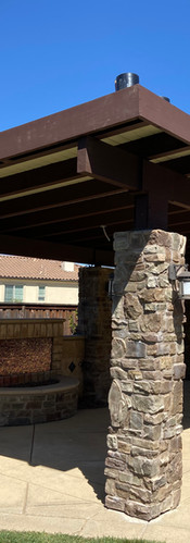 Outdoors Stone-Support Trellis