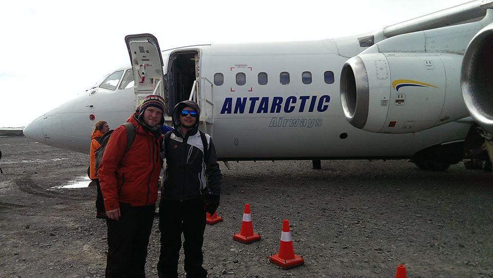 Llegada Luis y Alejandro Antartica