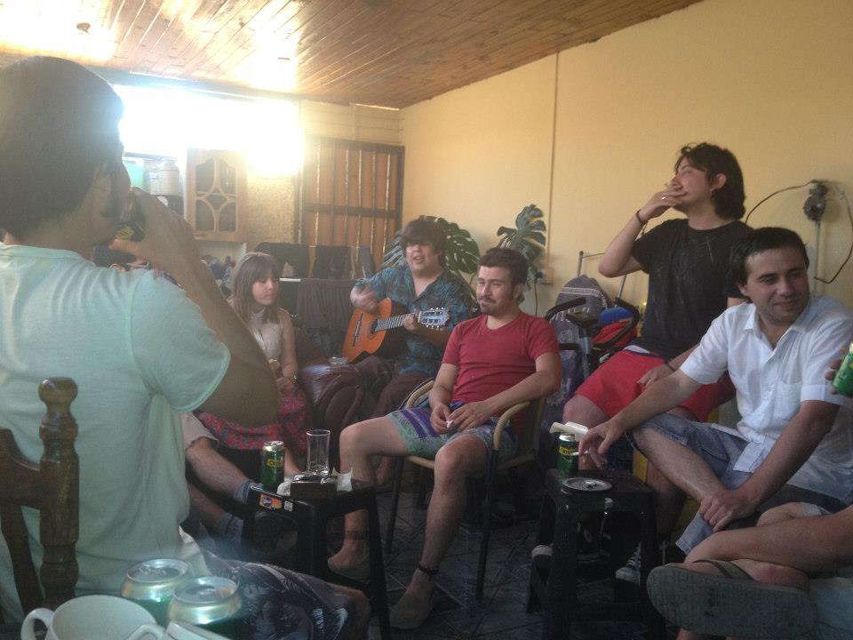 guitarreando casa Catherine 2012