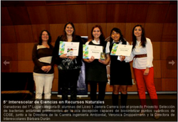 V Interescolar de Ciencias en Recursos Naturales Oct  2013