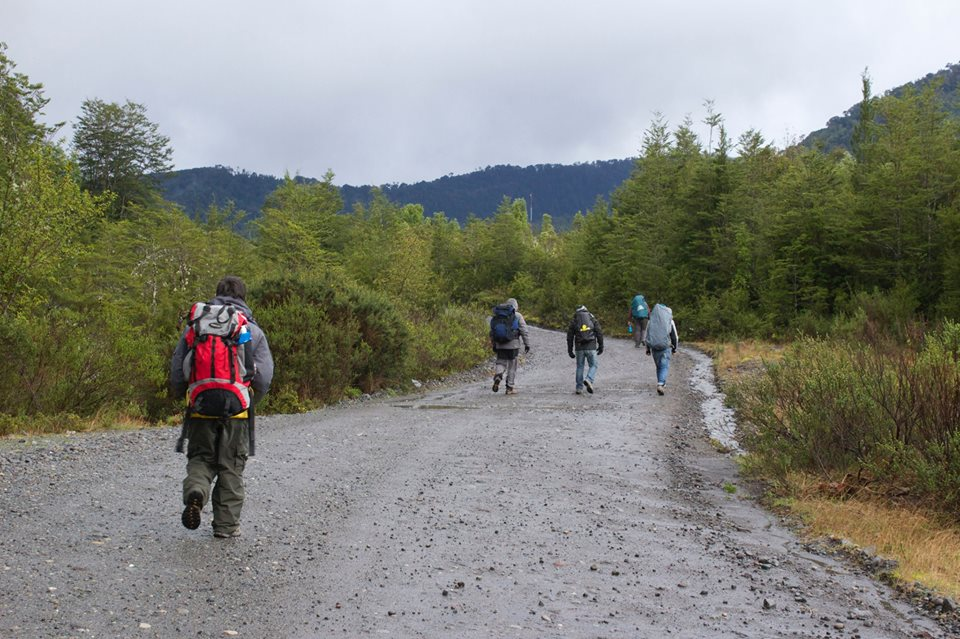 Walking to the Calbuco