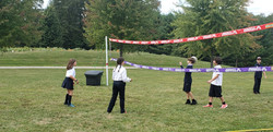 morning recess at volleyball court