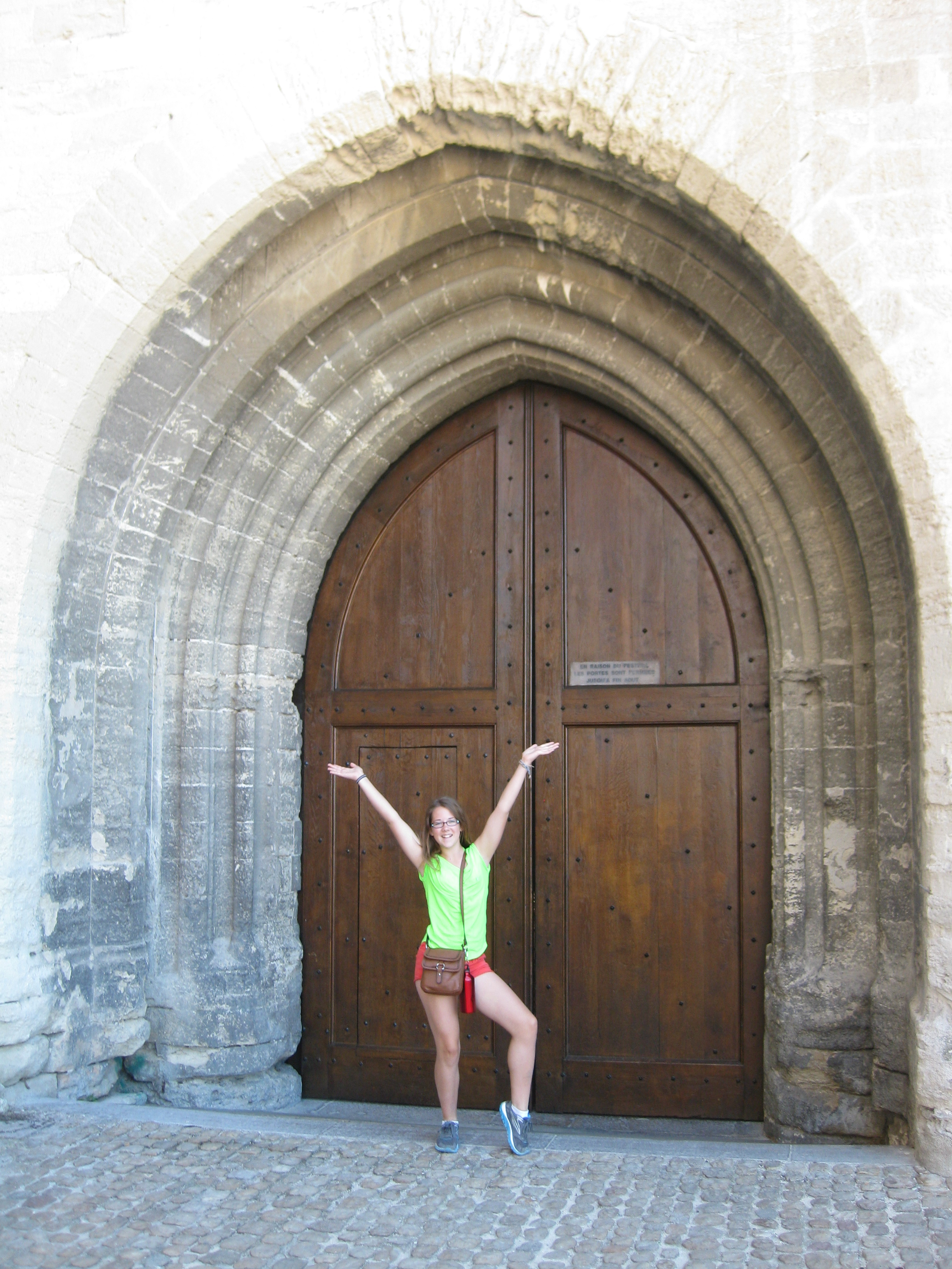 Emma at the Palais de Pape