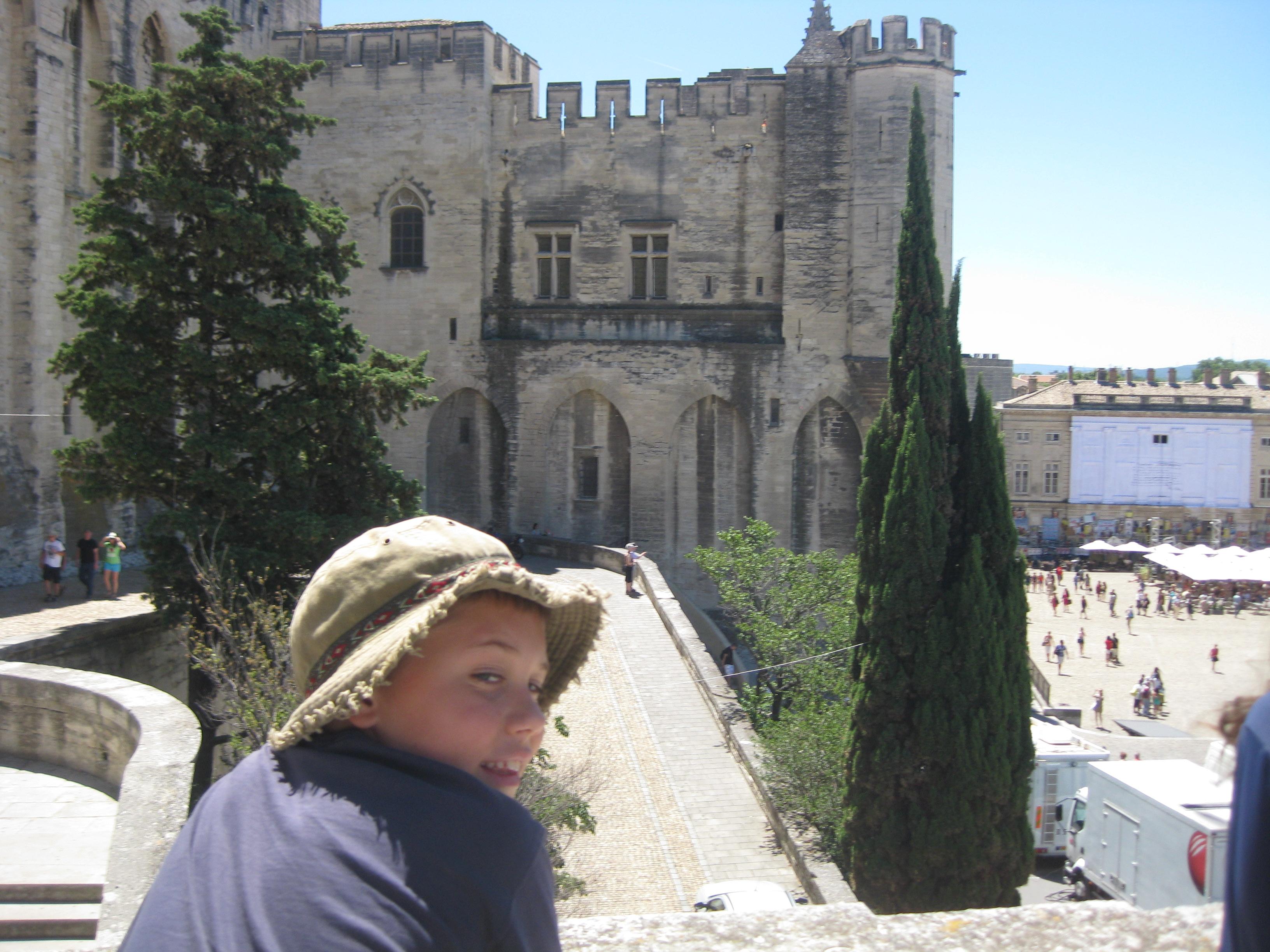 Nathaniel overlooking le Palais