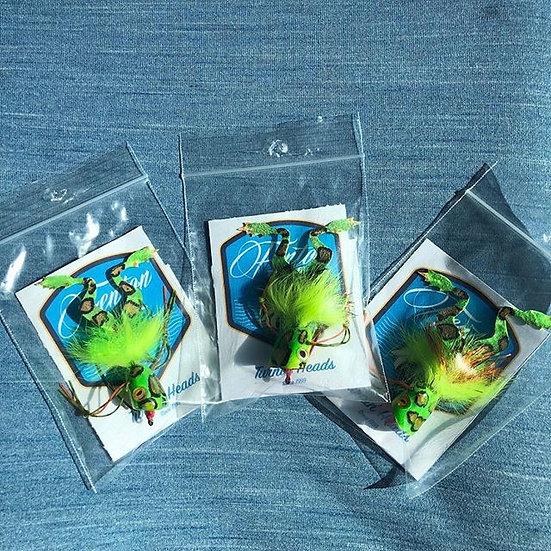 Weedless Frog Popper 3 pack