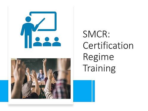 Certification Regime Training Slides and Script