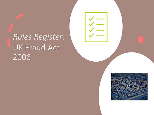 UK Fraud Act 2006 Rules Register